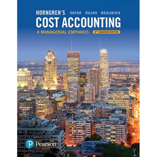 Solutions Manual - Horngren's Cost Accounting: A Managerial Emphasis - 8th Canadian Edition
