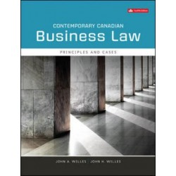 Test Bank - Contemporary Canadian Business Law - 12th Canadian Edition